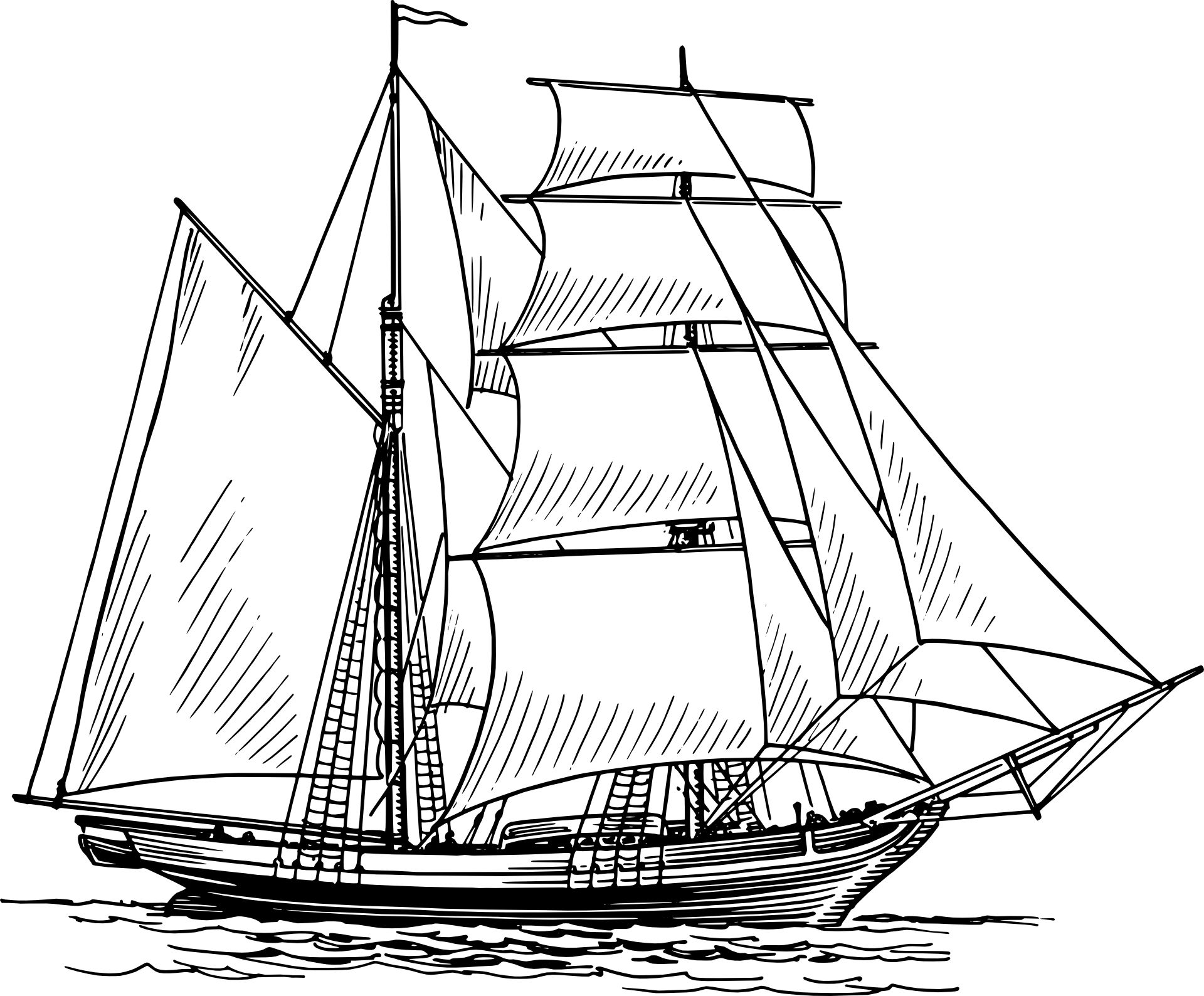 Historical Sailing Ships And Boats Coloring Pages Boat Drawing