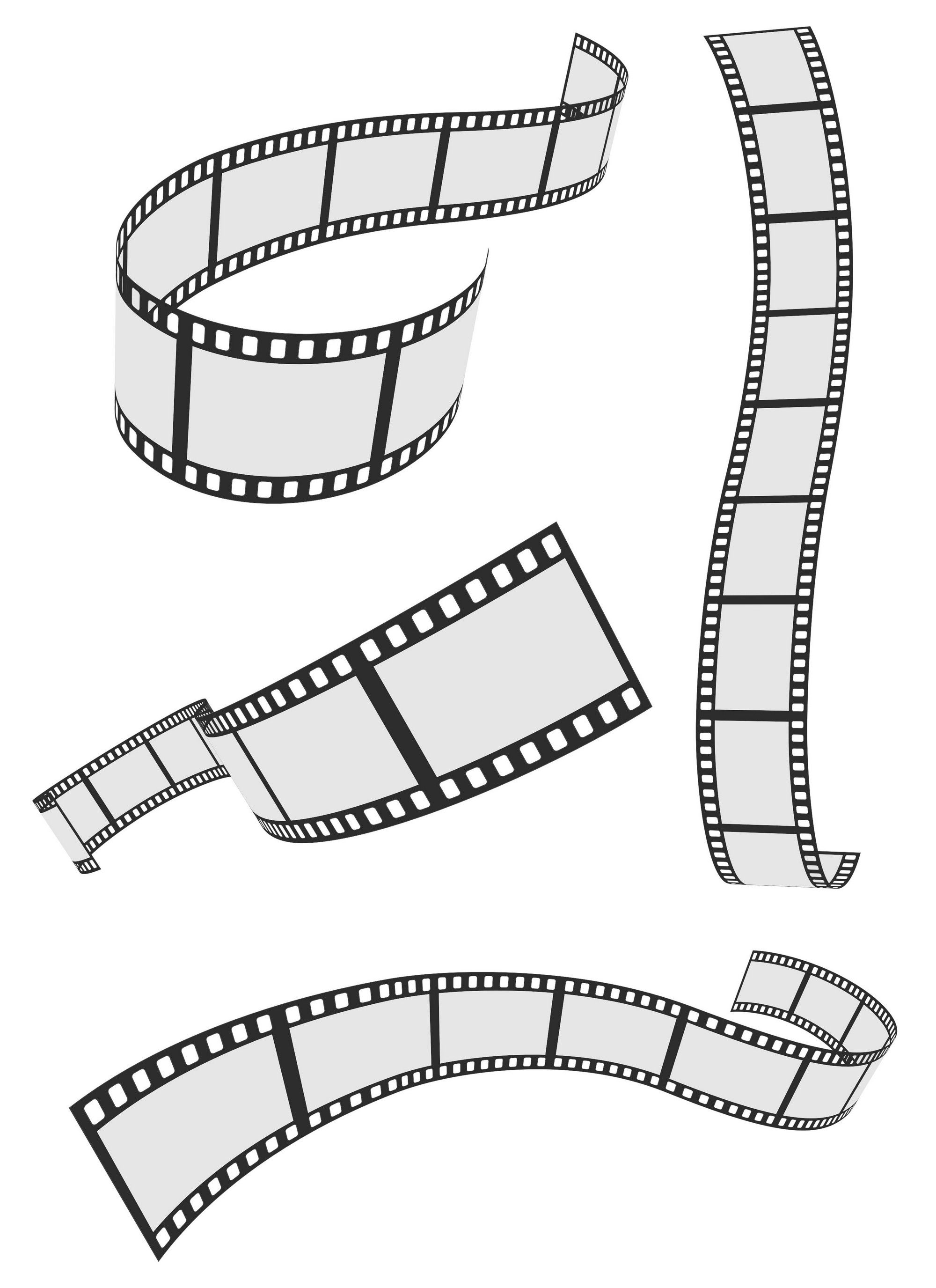 Film Strip 4 Roll Set Vector Eps File Vector Eps Free Download Logo Icons Brand Emblems Film Strip Camera Tattoo Film Roll