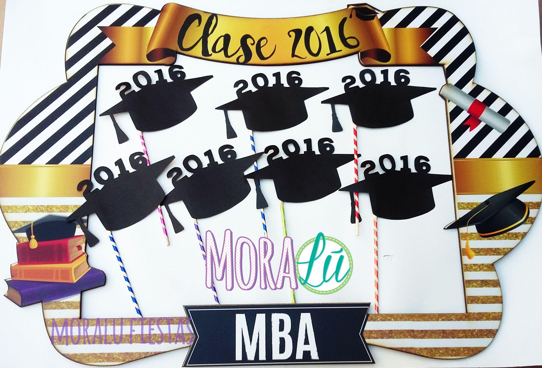 Que esos momentos y logros tan importantes queden marcados para siempre <3 Marco y props para los graduados de MBA ¡Felicitaciones! #graduacion #decoraciongraduacion #fiestascali #fiestaspersonalizadas #clase2016