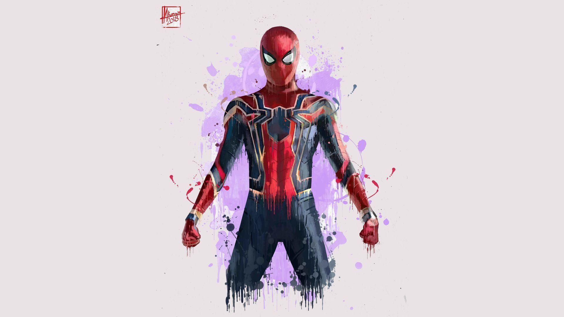 Download Wallpapers Of Iron Spider Spider Man Avengers Infinity War Artwork 4k Creative Graphics 12929 Iron Man Artwork Iron Spider Avengers Wallpaper