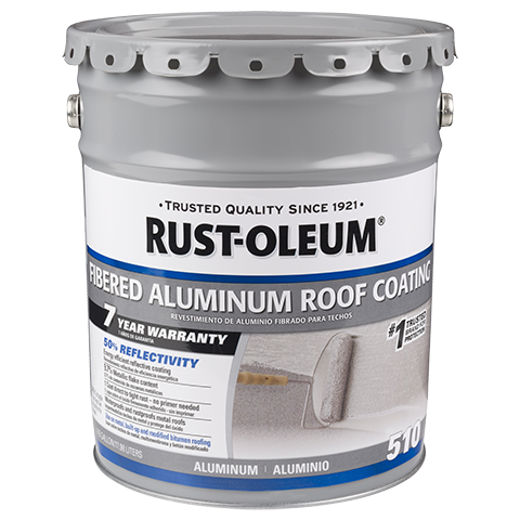 Rust Oleum 7 Year Fibered Aluminum Roof Coating Is A Metallic Pigmented Coating Used For Rust Proofing And Weath Roof Coating Aluminum Roof Metal Roof Coating