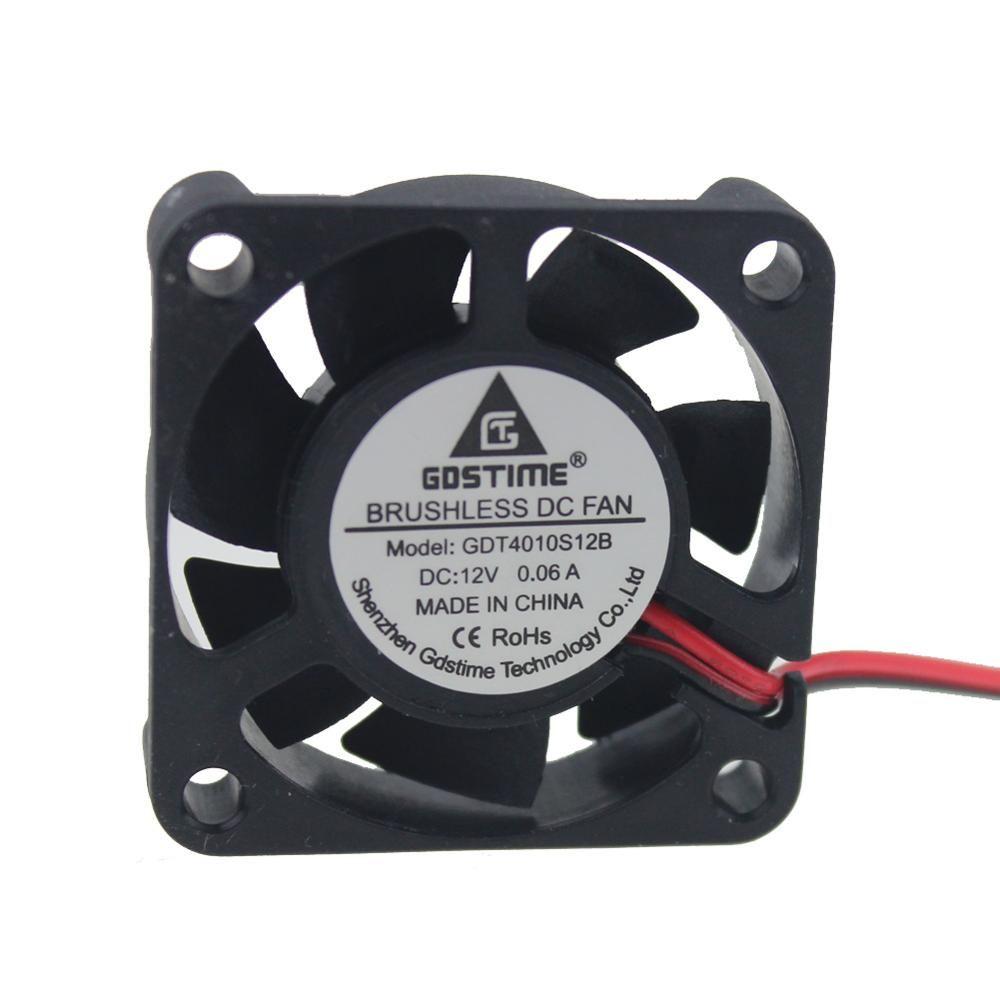 Gdstime 10pcs Cooling Fan Mini Small 40mm X 10mm 4010s Dc