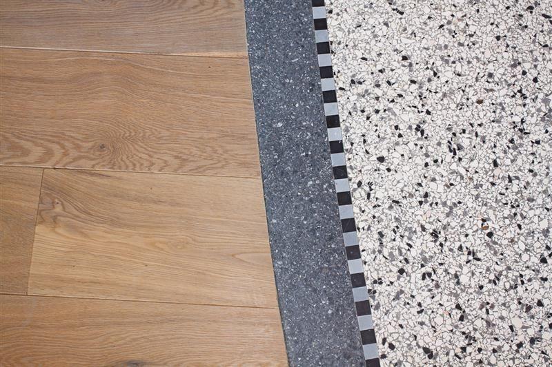 Terrazzo Fußboden Küche ~ De vries terrazzo detail overgang tussen houtenvloer en terrazzo