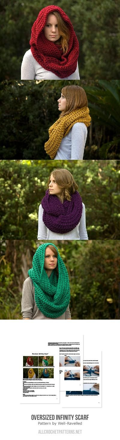 Oversized Infinity Scarf Crochet Pattern By Well Ravelled Crochet