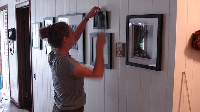 How To Hang Pictures Without Destroying Your Walls Picture Hanging Tips Hanging Pictures Picture Hanging Height