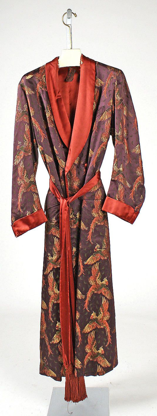 French Dressing gown * silk 1927 | the bohemians | Pinterest ...