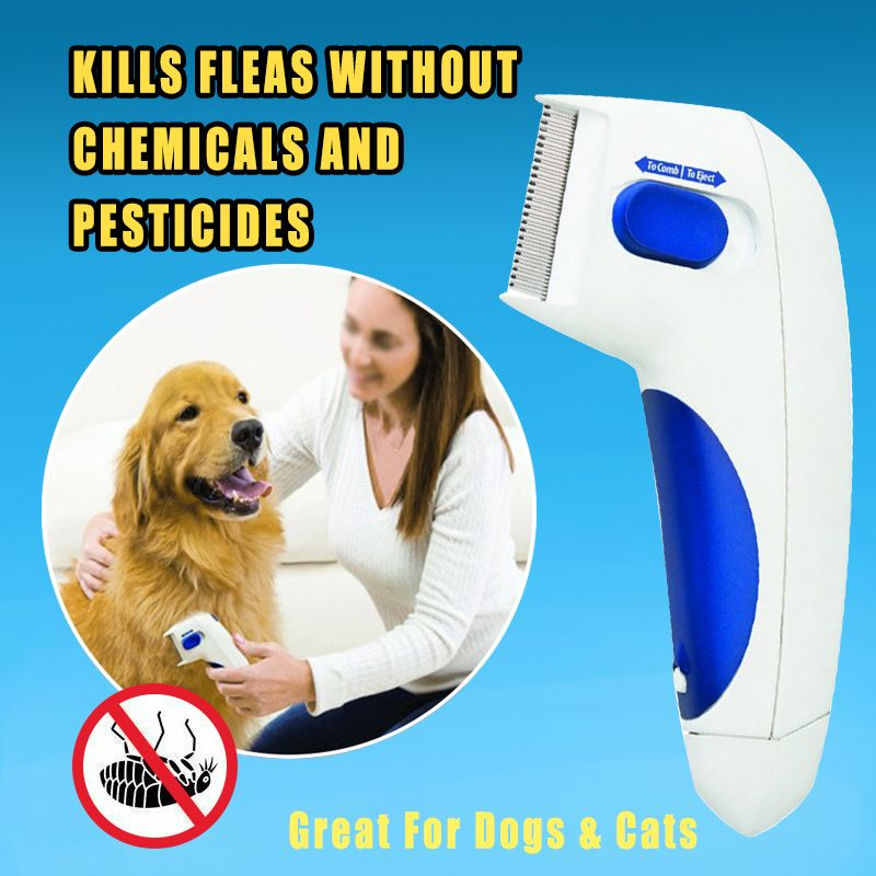 Watch Never Worry About Fleas Again With This Electric Flea Comb Pet Accessories Fleas Dog Grooming