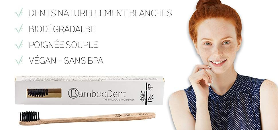 BambooDent - La brosse à dents écologique, Poignée en bambou Moso et