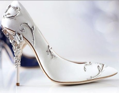 d50eb9a50d28 Luv the sleek modernity of this Silver Etched Satin Pump...Lush! - Ralph  and Russo