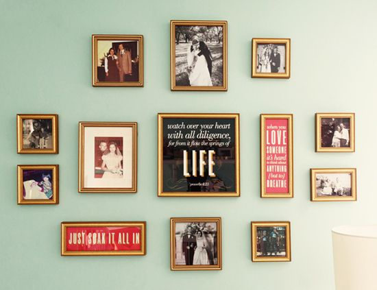 Putting A Grouping Of Family Photos In A Nursery Is Such A Sweet Idea.  Craft IdeasDecor ...