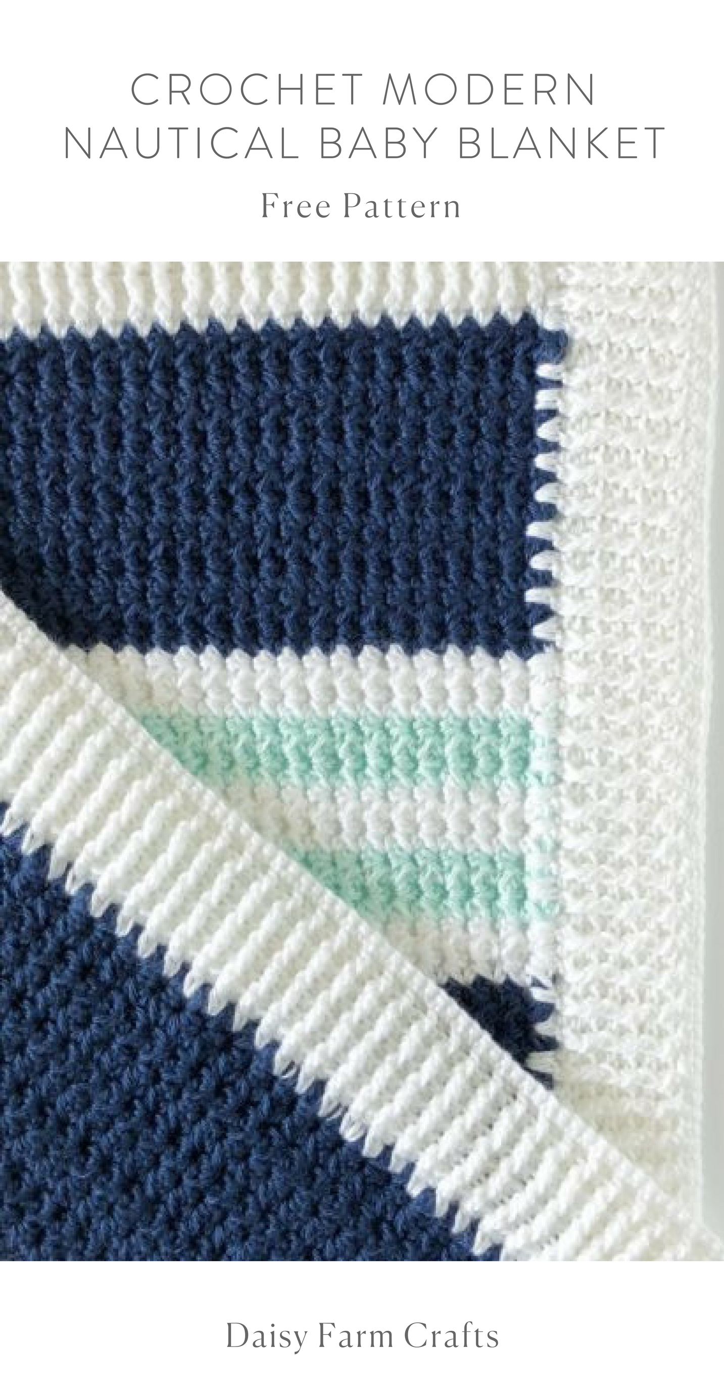 Free Pattern - Crochet Modern Nautical Baby Blanket | Crochet ...