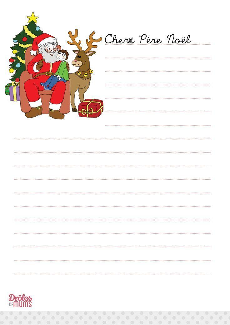 Pour Telecharger Et Imprimer La Lettre Au Pere Noel Version Garcon