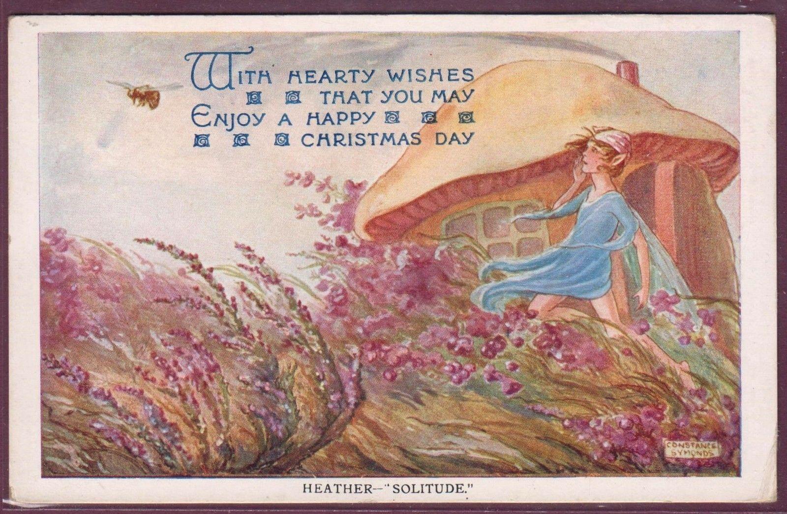 Fairy Christmas Greeting Card Artist Constance Symonds