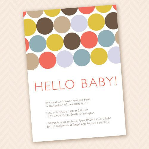 Hello Baby Modern Shower Invitation Design