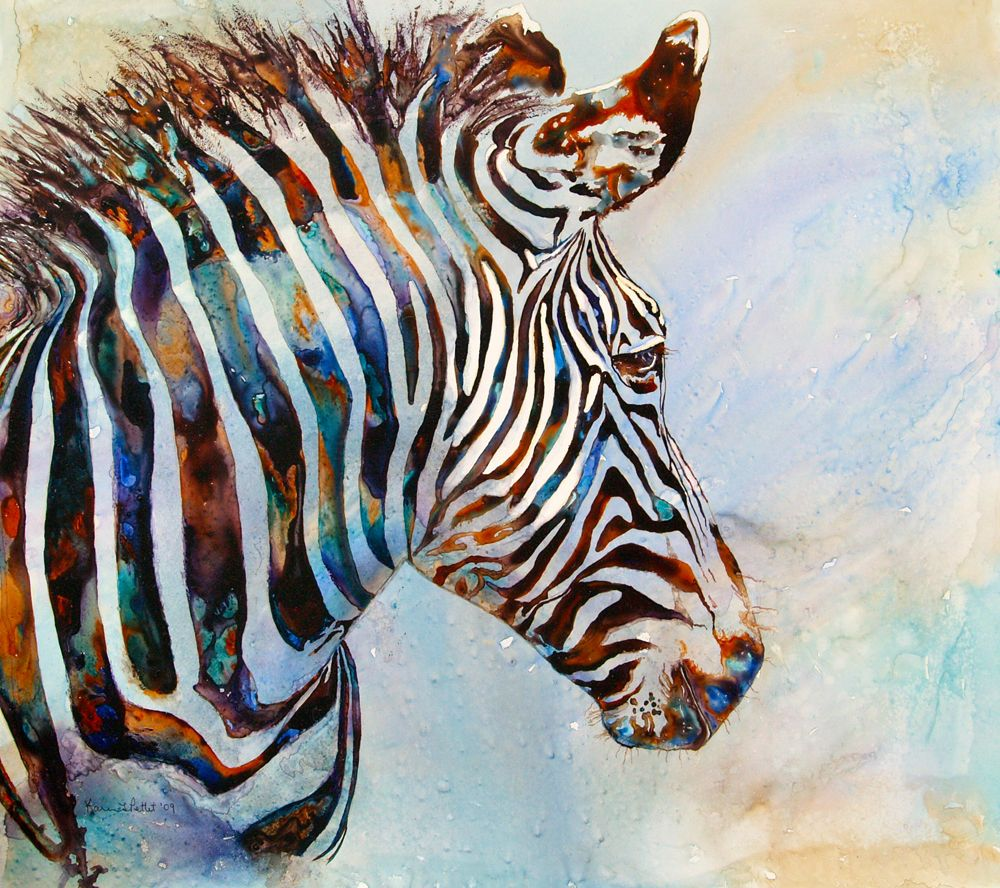 Watercolor Paintings Of Zebras Imperial Zebra Zebra Painting