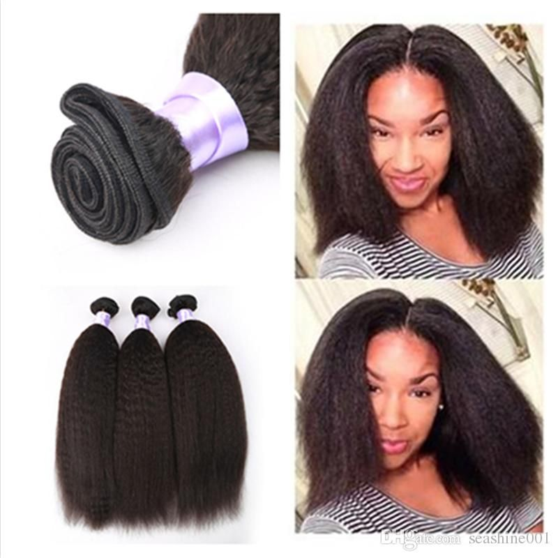 8a unprocessed coarse yaki malaysian virgin kinky straight yaki 8a unprocessed coarse yaki malaysian virgin kinky straight yaki hair weaves 3pcs lot malaysian kinky straight hair extensions pmusecretfo Image collections