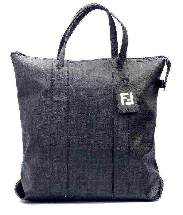 Fendi Zucca Black Large Unisex Tote Bag  2a60f0c5326f1