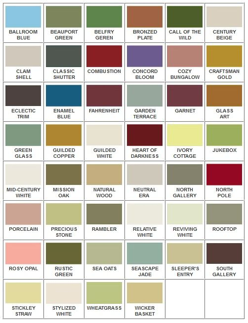 American Craftsman Inspired Paint Colors For Arts And Crafts Style Bungalows Paint Colors