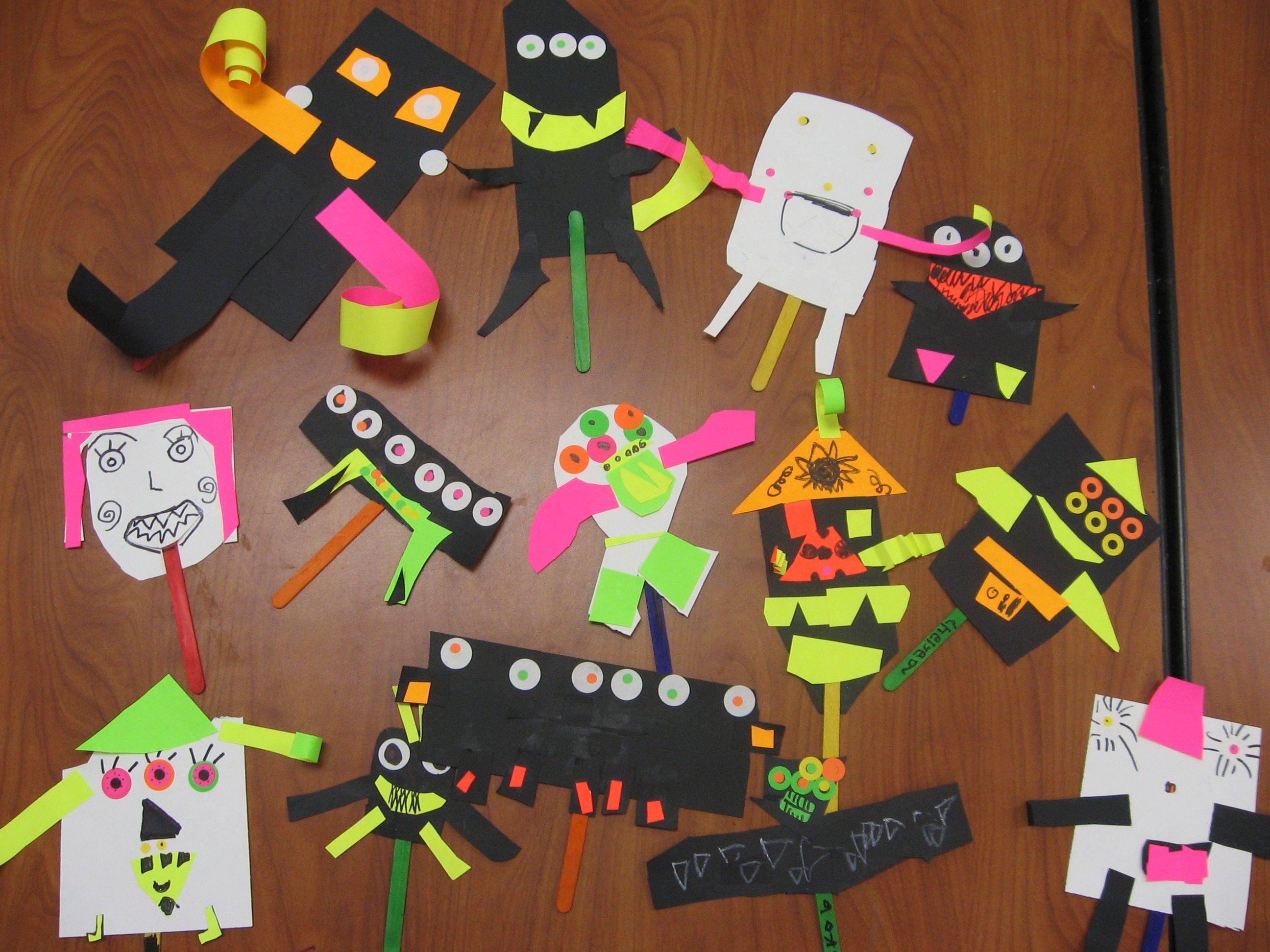 Kindergarden Monster Puppets