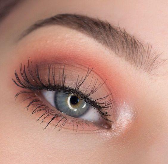 Soft Orange Eyeshadow Makeup Makeup Eye Makeup Makeup Inspo