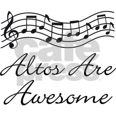 altos are awesome w staff 11 oz Ceramic Mug Alto Singer Gift Funny Mug by HomewiseShopper