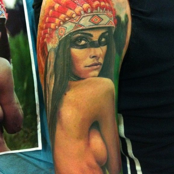 Sexy native american tattoo