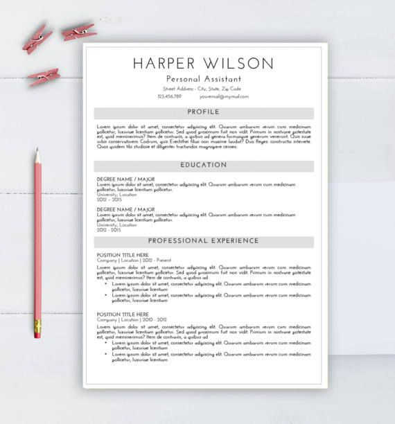 Professional Resume Template Cv Template For Word By Aaaresume