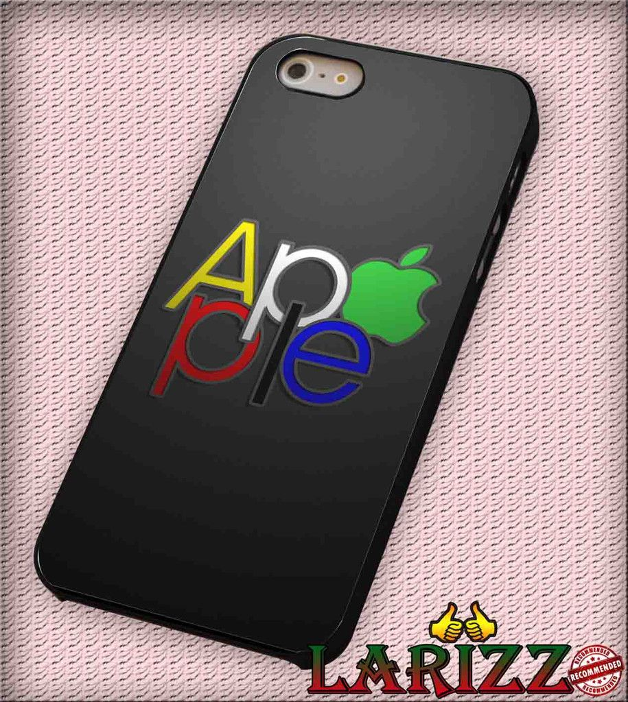 "apple green logo cool for iPhone 4/4s, iPhone 5/5S/5C/6/6 , Samsung S3/S4/S5 Case ""08"""