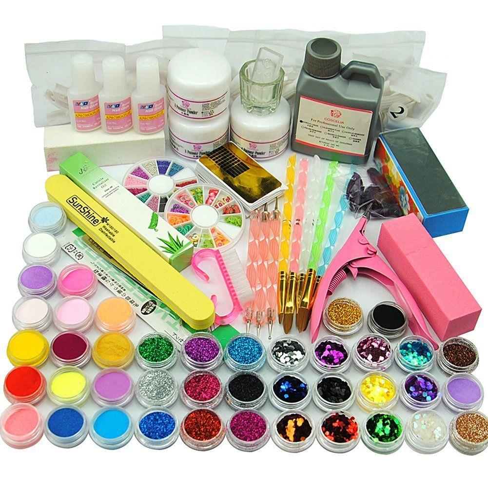 Coscelia Acrylic Nail Powders Liquid Nail Art Kits Manicure Tools