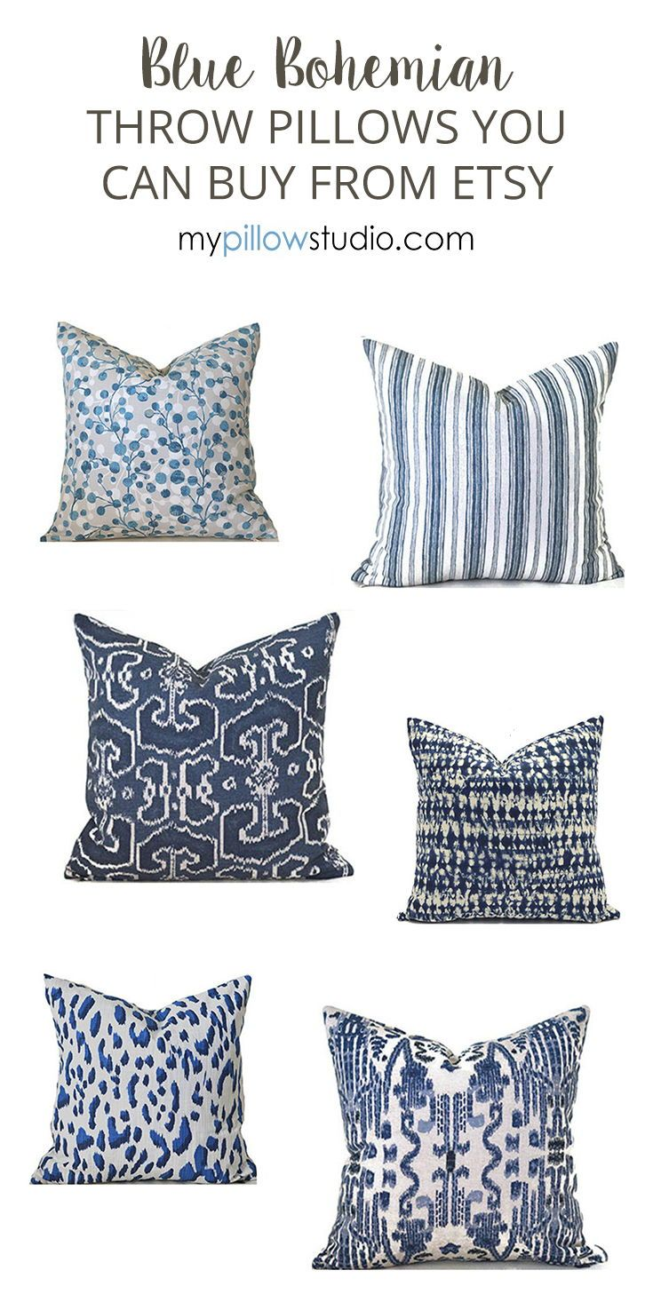 Indoor Pillow Covers Any Size Decorative Home Decor Navy Blue Etsy In 2021 Outdoor Pillow Covers Etsy Pillow Covers Pillows