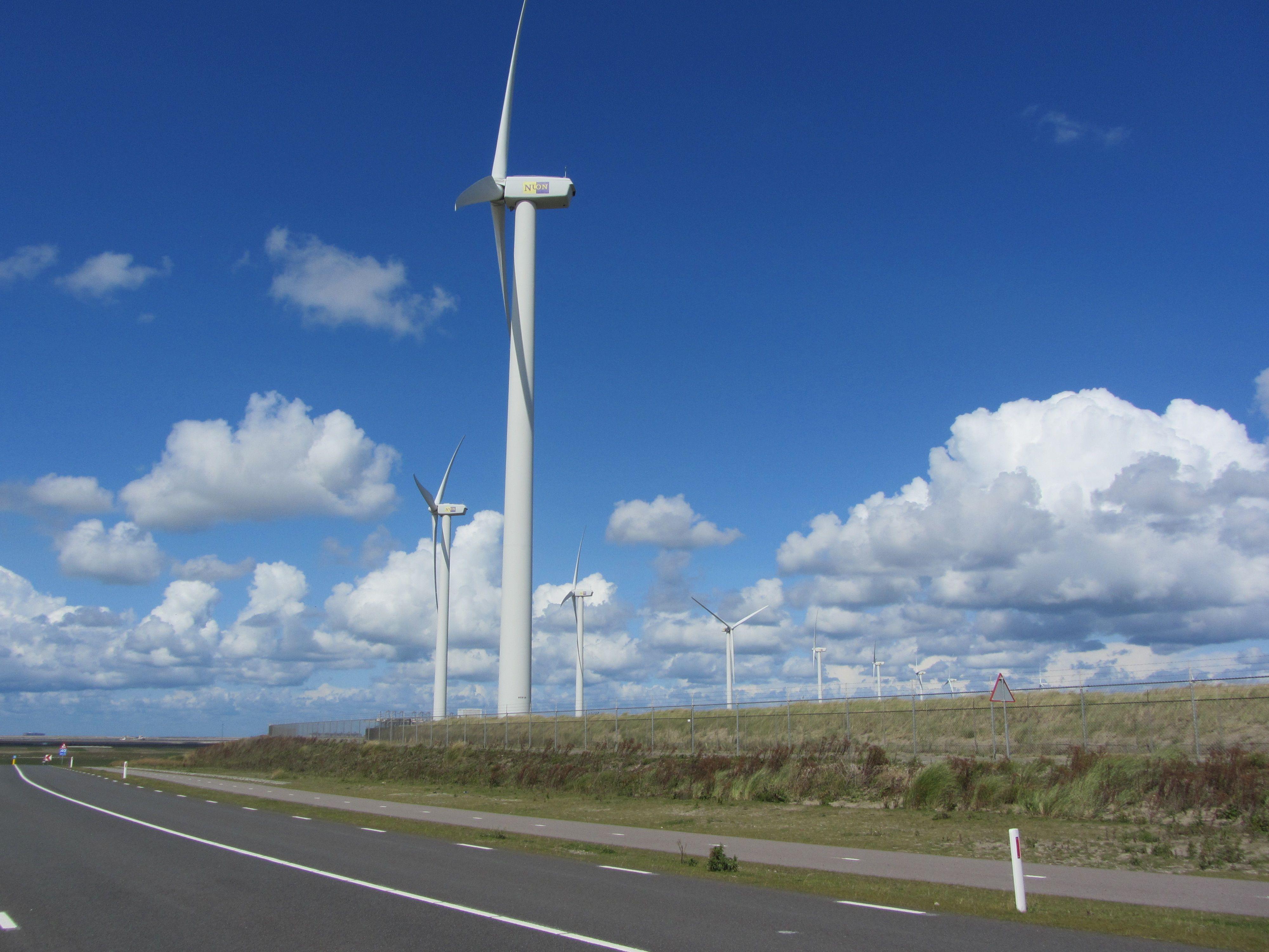 Ook op de maasvlakte windmolens