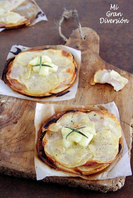 Mi Gran Diversión: Mini Pizzas de Patatas con cebolla y Brie