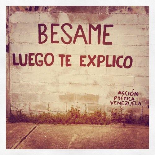 Imagen de venezuela, besame, and accion poetica