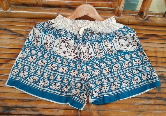 B05 New Women Shorts Boho Hippie Summer Pant Beach by MicroTee