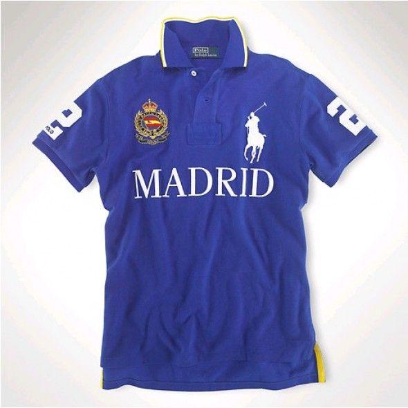 Ralph Lauren Men MADRID Blue White Big Pony Polo http://www.ralph