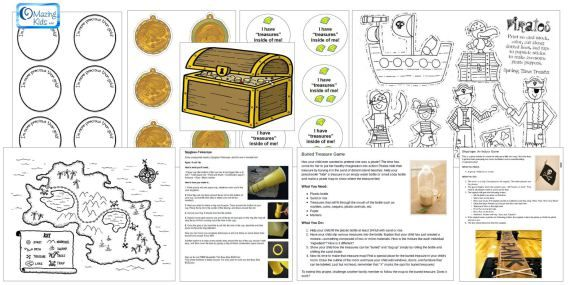 Treasure Chest Coloring Pages - GetColoringPages.com | 285x570
