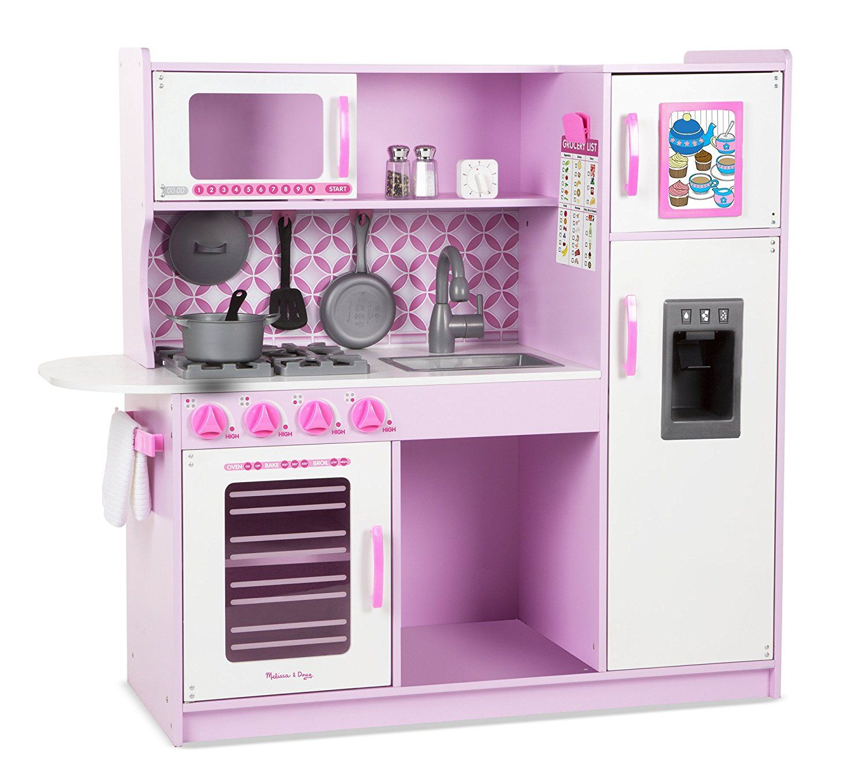 Amazonsmile melissa s kitchen pretend play set cupcake pink white