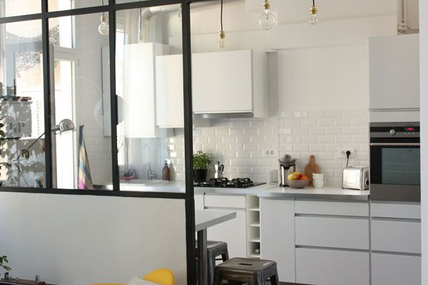 Avant après  une cuisine refaite avec brio - cuisine dans veranda photo