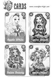 Image Result For Ever After High All Characters Cards