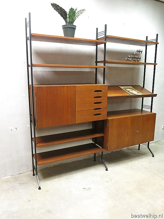 Danish mid century vintage design wall unit vintage for Deens design meubelen