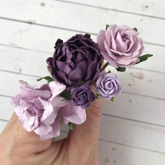 Lilac Purple Flower Hair Pins For Holidays Weddings Prom Bridesmaids Thank You Gift Set Romantic Hair Style Purple Flow Light Purple Flowers Dark Purple Flowers Purple Flowers