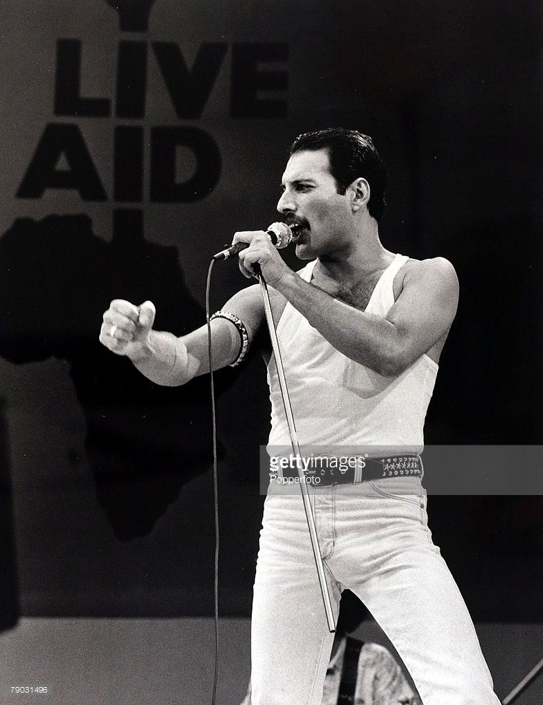 Entertainment Music Live Aid Concert Wembley London England 13th Queen Freddie Mercury Singer Freddie Mercury
