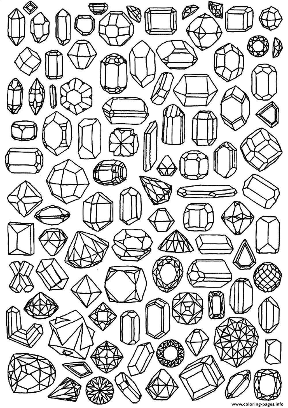 Print adult zen anti stress to print diamonds coloring pages