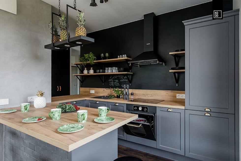 Lirowa Kodo Projekty I Realizacje Wnetrz Industrialna Kuchnia Homify Kitchen Inspirations Home Kitchens Small Kitchen