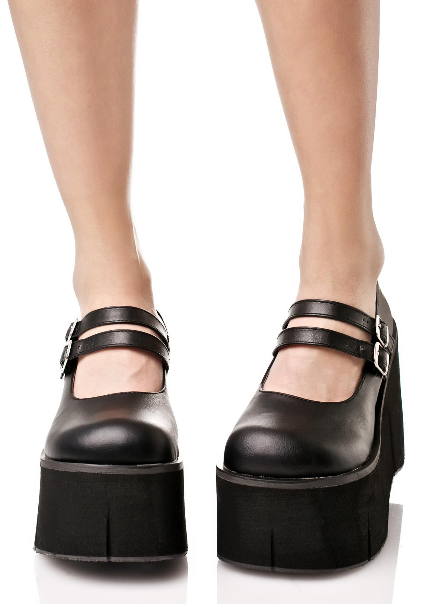 b1e00581c6 Dollhaus Platform Mary Janes | My Style | Black mary jane shoes ...