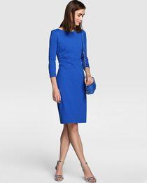 Vestido de mujer Antea en color azul con detalle cruzado