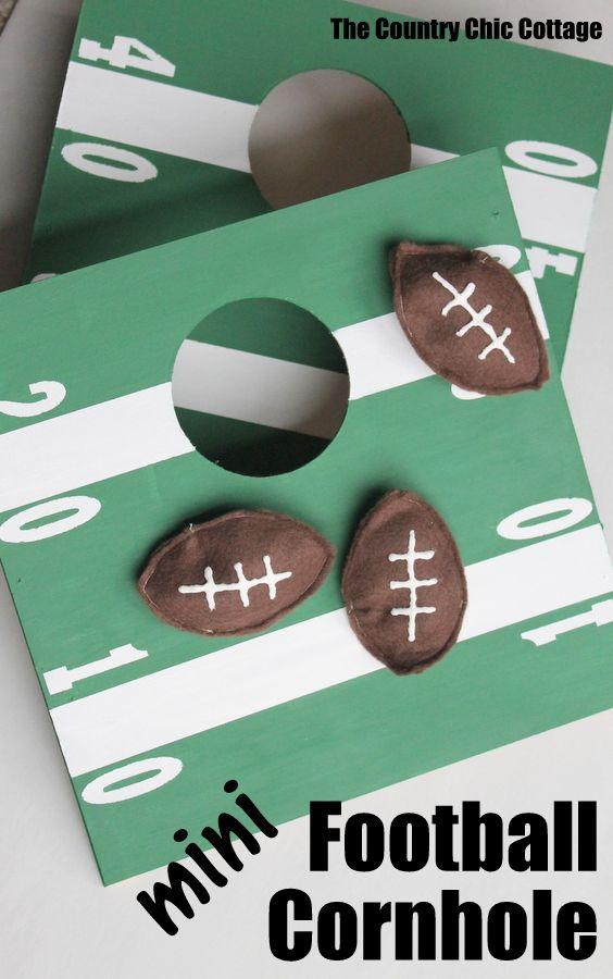 Mini Football Cornhole Family Reunion Ideas Pinterest Futbol
