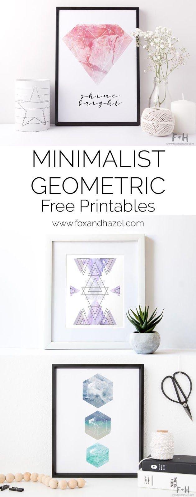 3 free geometric minimalist art prints is part of Geometric art prints - 3 Free Geometric Minimalist Art Prints Minimalistart DIY