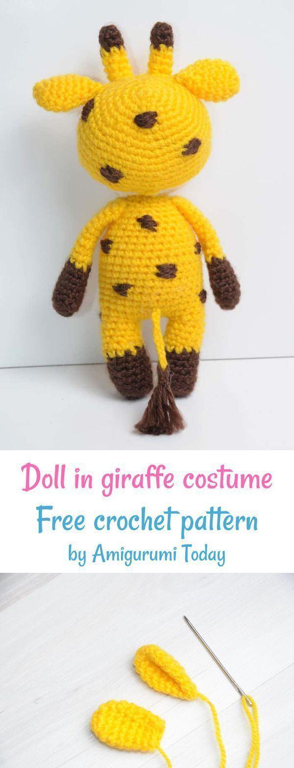 Amigurumi doll in giraffe costume #giraffecostumediy Crochet Doll in giraffe cos... :  Amigurumi doll in giraffe costume #giraffecostumediy Crochet Doll in giraffe costume free crochet pattern by Amigurumi Today #amigurumi #amigurumidoll #amigurumipattern  #Amigurumi #cos #costume #crochet #Doll #Giraffe #giraffecostumediy #giraffecostumediy