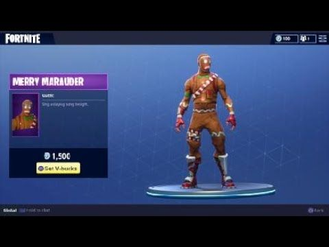 Fortnite Merry Marauder Outfit - Holiday Themed Character ...